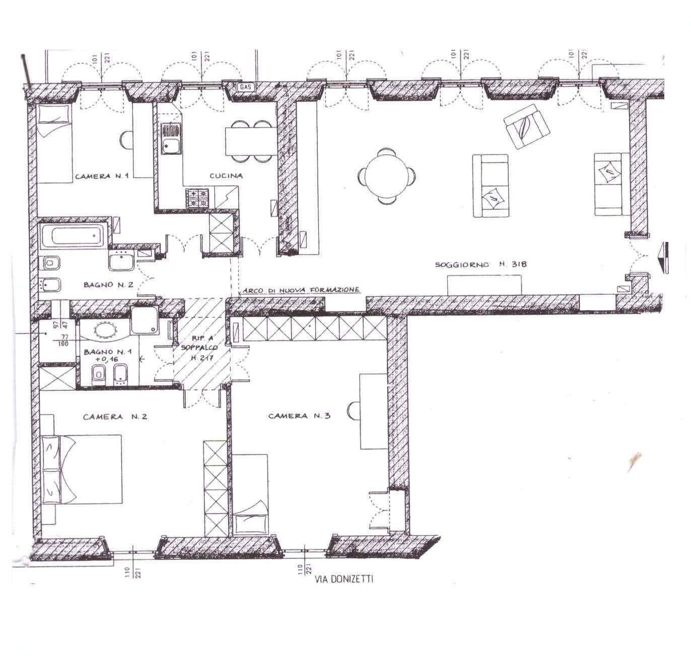 planimetria donizetti terzo piano