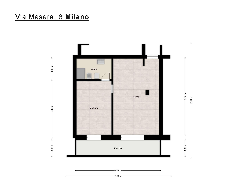 Planimetria Via Masera, 6 Milano