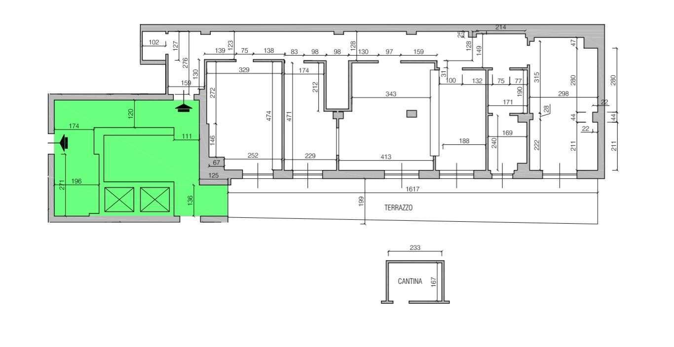 Ufficio in vendita con ampio terrazzo